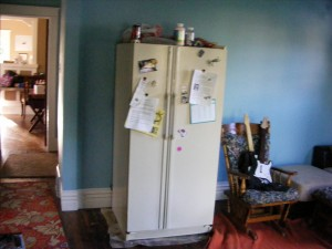 Fridge in the Family Room